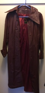vintage burgundy leather coat